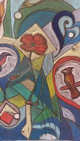 Rotes Vögelchen rechts ....