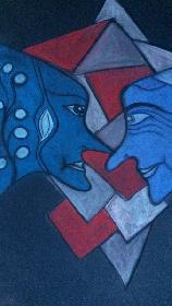 blau und rot ....