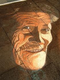 Straßenbild aus Kreide